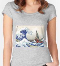 Camiseta entallada de cuello ancho Legend of Zelda Great Wave Windwaker