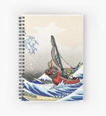 Legend of Zelda Great Wave Windwaker Spiral Notebook