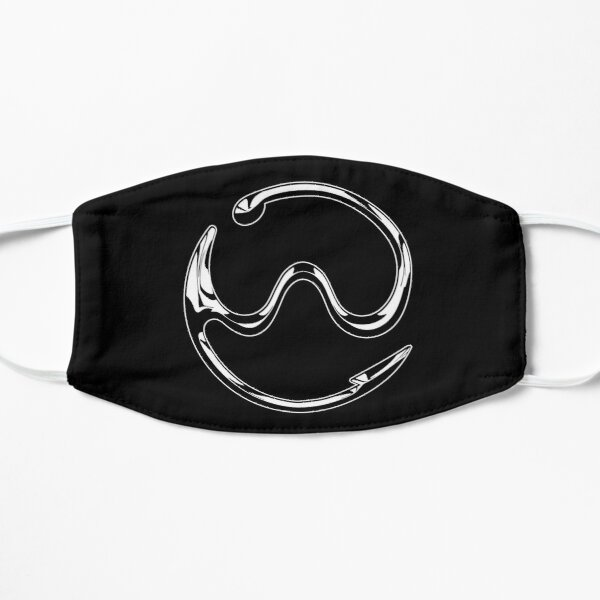 Logo Gaga Chromatica (Chrome blanc sur noir) Masque sans plis