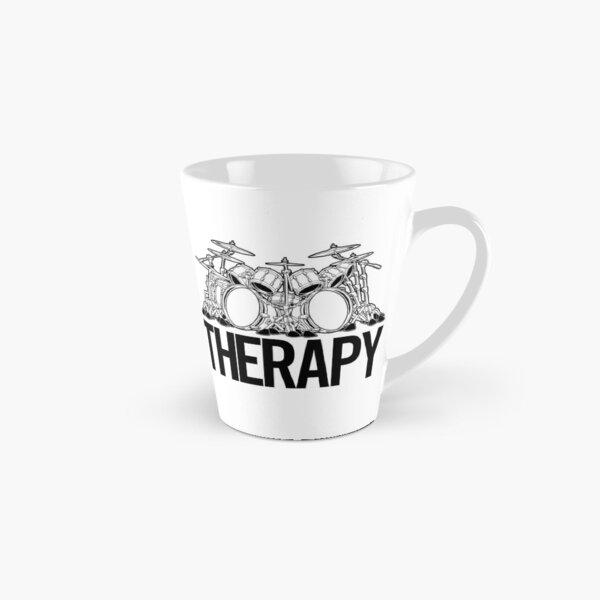 Drummers Therapy Drum Set Cartoon Illustration Tall Mug