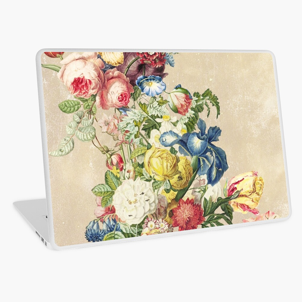 Floral tribute to Louis Mcneice (Light) Laptop Skin