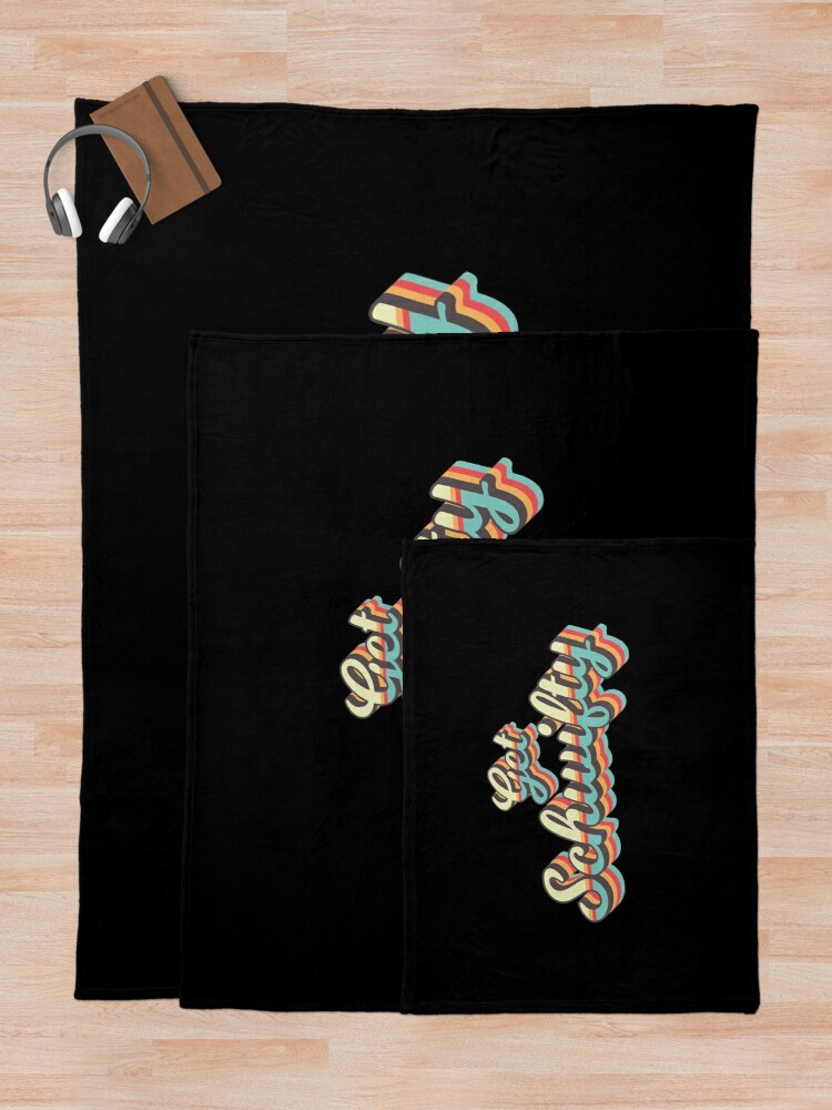 Alternate view of Get Schwifty from Rick and Morty ™ Retro 70s Letters Throw Blanket