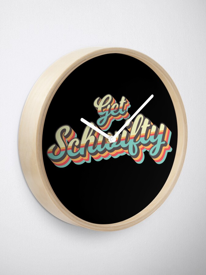 Alternate view of Get Schwifty from Rick and Morty ™ Retro 70s Letters Clock