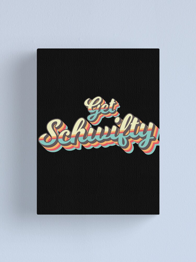 Alternate view of Get Schwifty from Rick and Morty ™ Retro 70s Letters Canvas Print