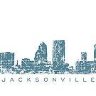 Jacksonville, Florida Skyline by theshirtshops