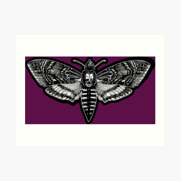 Deaths Head Moth - Silence of the Lambs Art Print