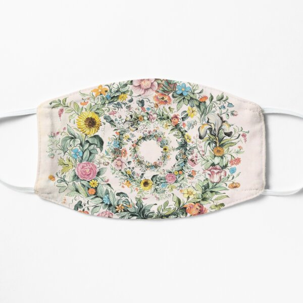 Circle of life-floral painting Mask