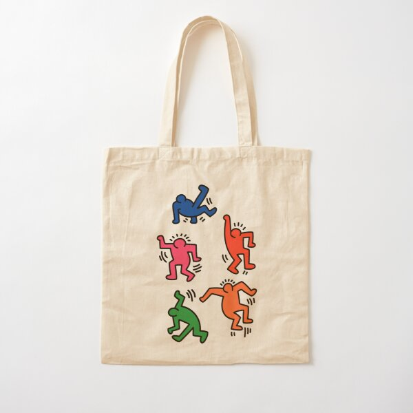 Keith Haring figures! Cotton Tote Bag