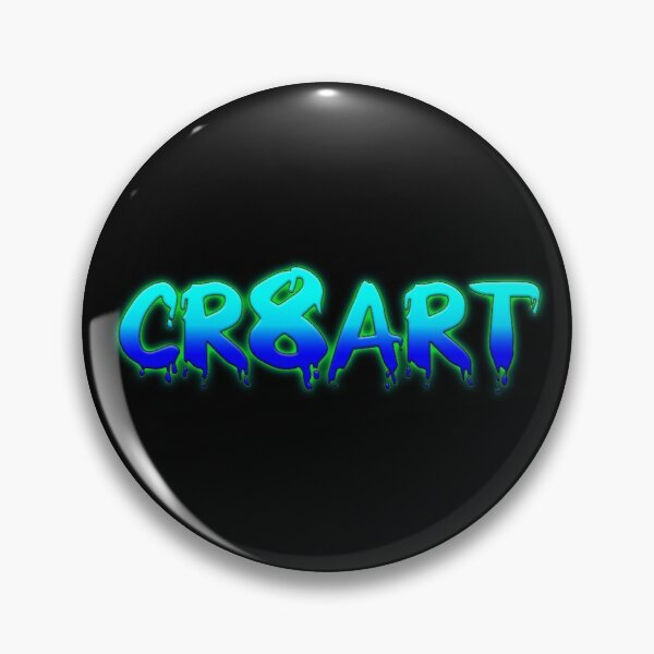 Create Art! - Turquoise and Blue on Black Pin