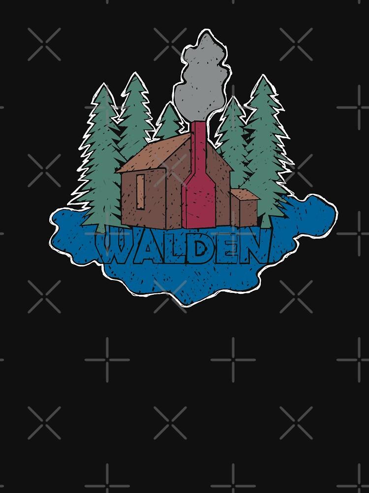 Walden - Henry David Thoreau (Coloured textured version) by PrintablesP