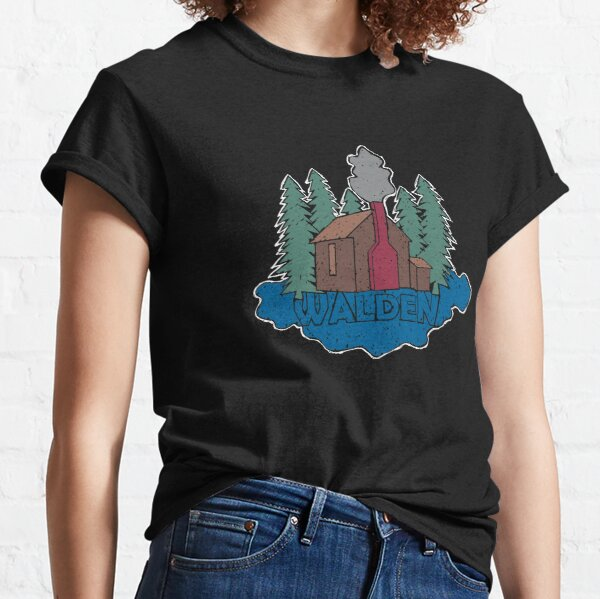 Walden - Henry David Thoreau (Coloured textured version) Classic T-Shirt