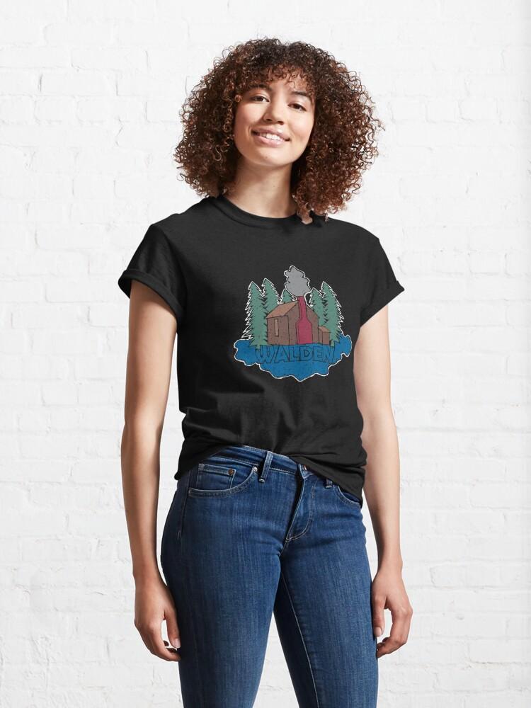 Alternate view of Walden - Henry David Thoreau (Coloured textured version) Classic T-Shirt