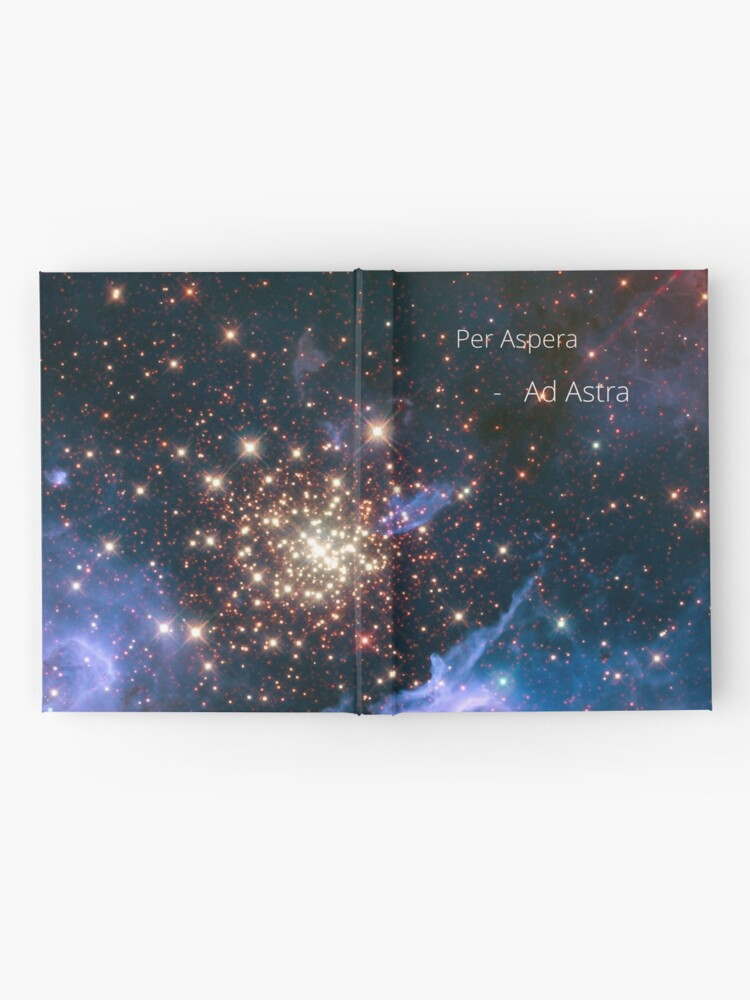 Alternate view of per aspera - ad astra Hardcover Journal
