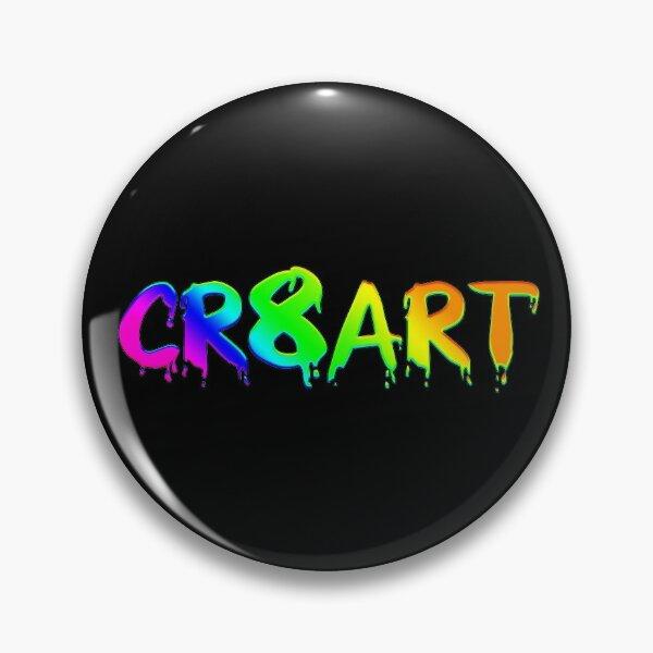 Create Art! - Rainbow colors on Black Pin