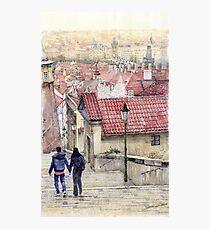 Prague Zamecky Schody Castle Steps Photographic Print