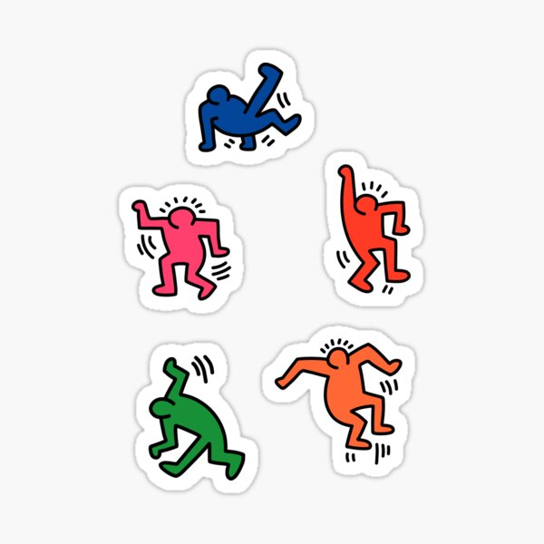 Keith Haring figures! Sticker