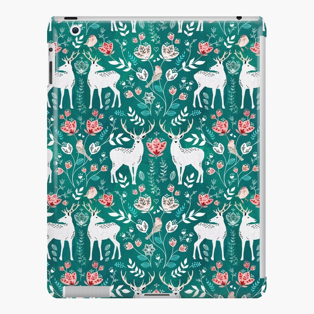 Scandinavian deer green iPad Case & Skin