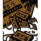 Retro Audio Tape (Sepia) by Geckoface