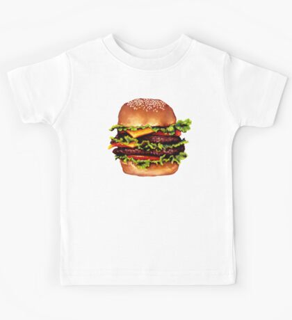 Double Cheeseburger 2 Pattern Kids Tee