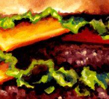 Double Cheeseburger 2 Pattern Sticker
