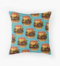Double Cheeseburger 2 Pattern Throw Pillow