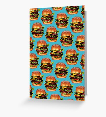 Double Cheeseburger 2 Pattern Greeting Card