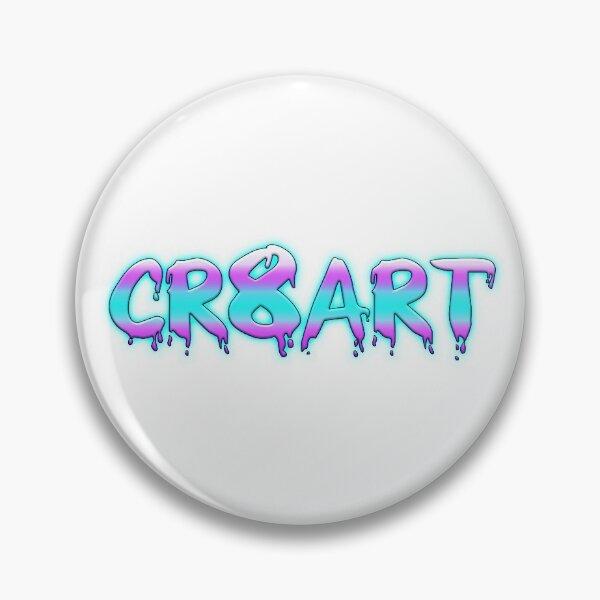 Create Art! - Pink, Blue on White Pin