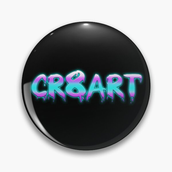 Create Art! - Pink, Blue on Black Pin