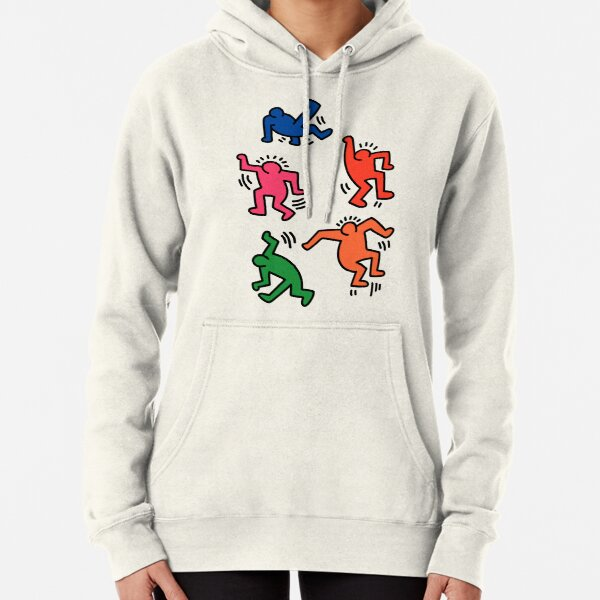 Keith Haring figures! Pullover Hoodie