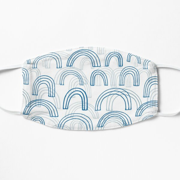 Rainbow echoes - fun abstract pattern by Cecca Designs Mask