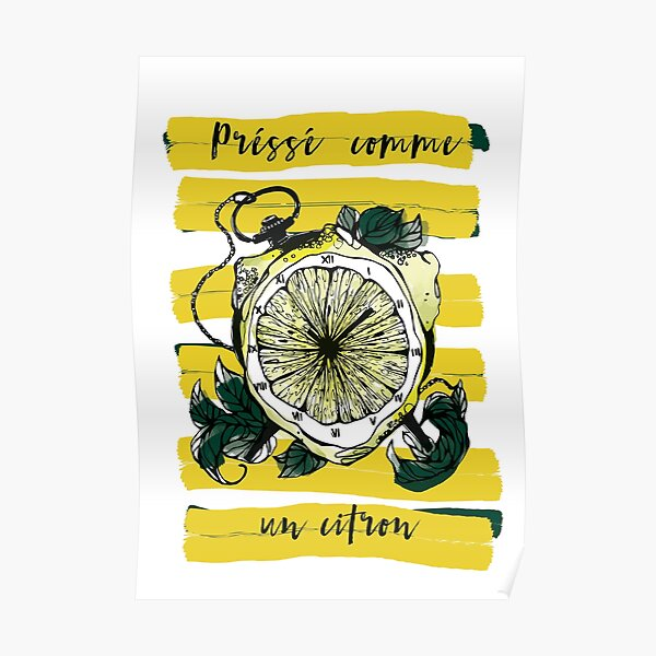 Illustration citron Poster