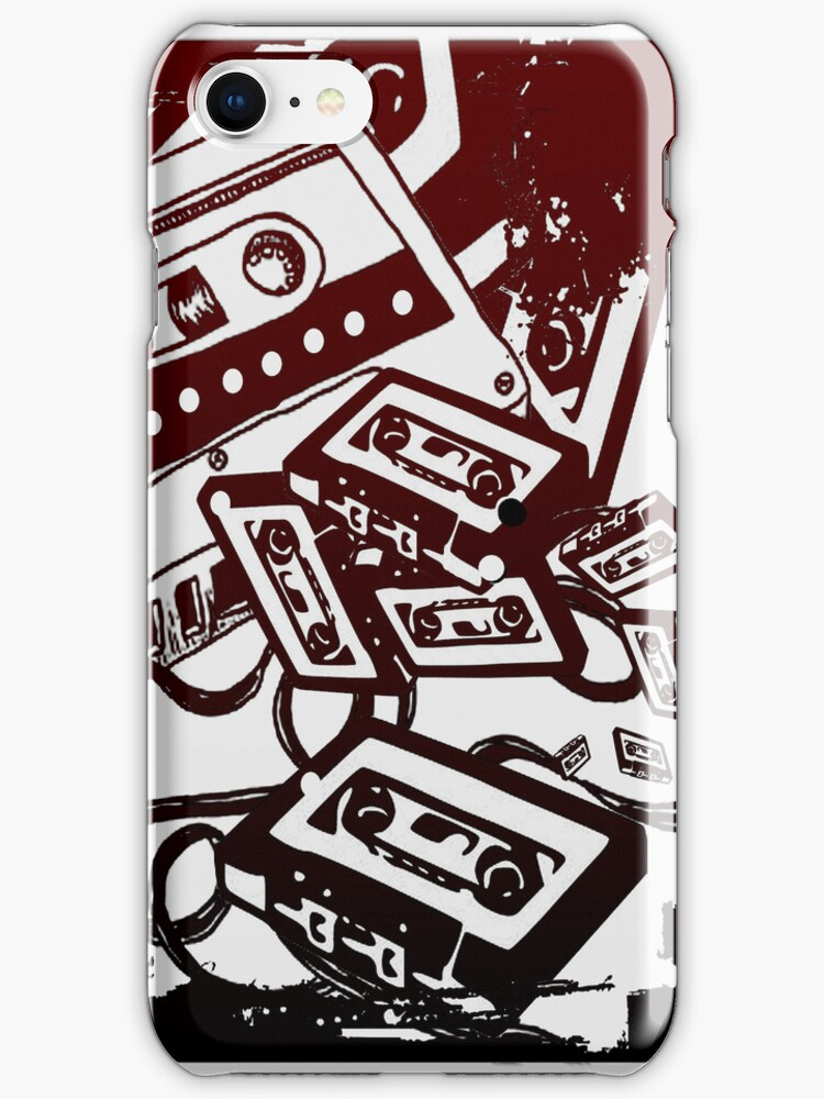 Retro Audio Tape (Wine/black) by Geckoface