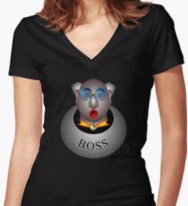 Boss Women's Fitted V-Neck T-Shirt