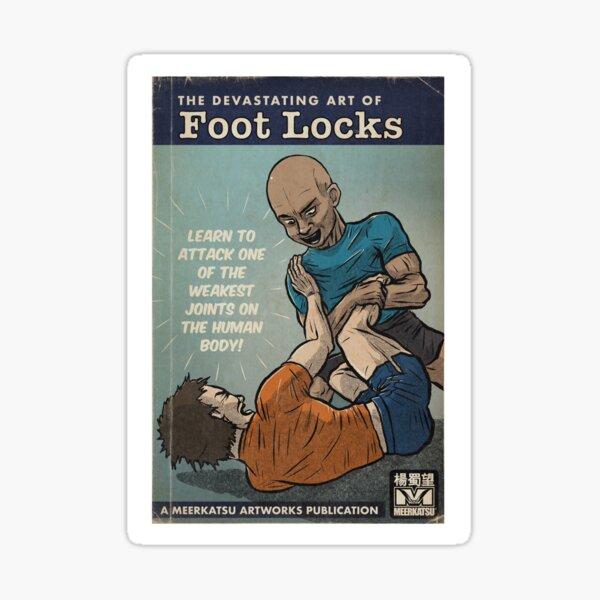 The `Devastating Art of Foot Locks Sticker