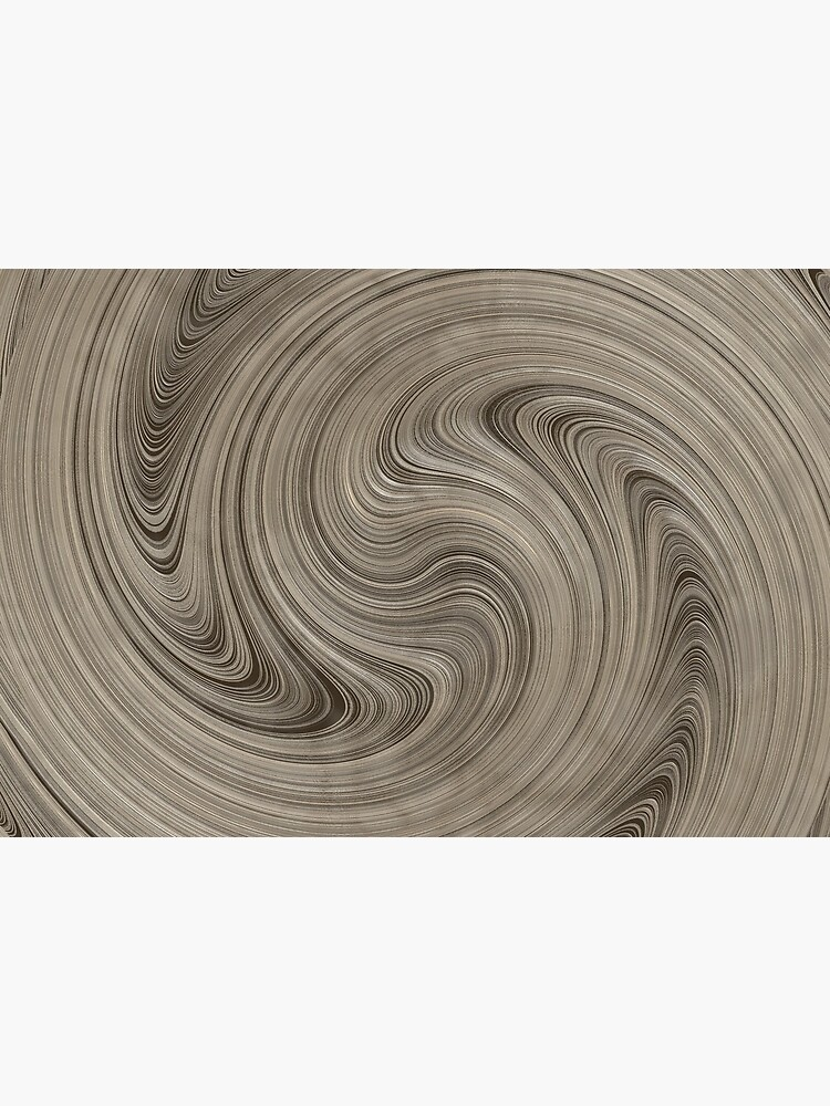 Cinerous And Taupe Wood Swirls Pattern by RootSquare