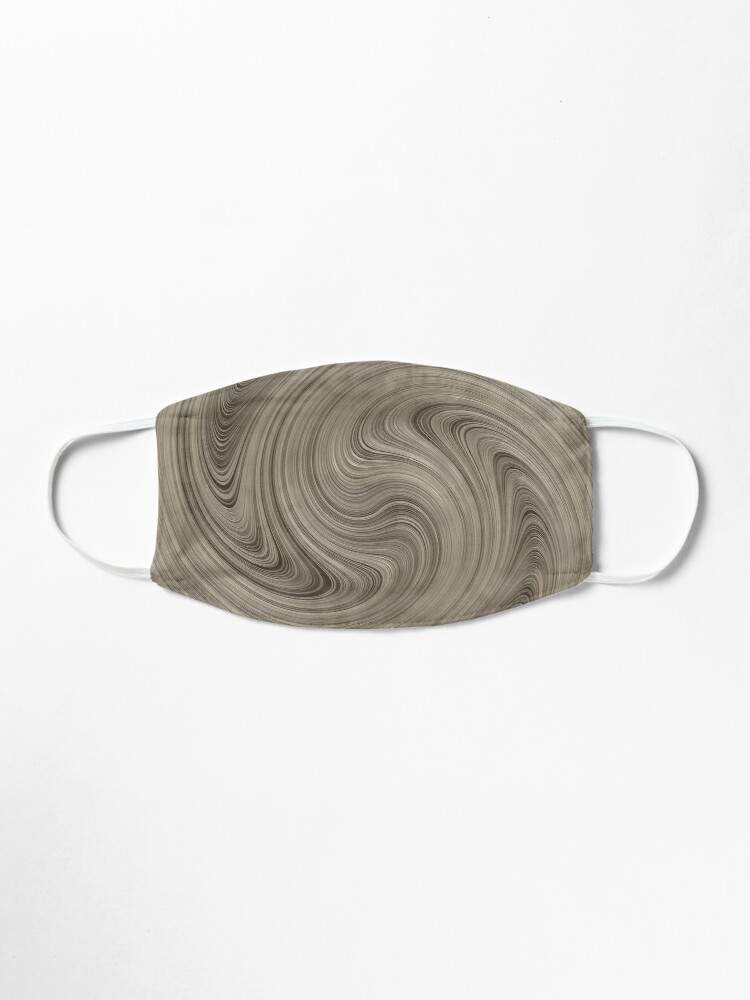 Alternate view of Cinerous And Taupe Wood Swirls Pattern Mask