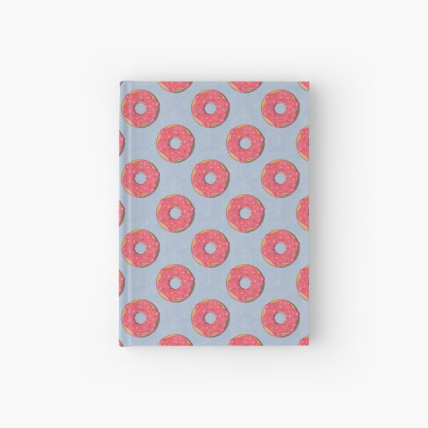 FAST FOOD / Donut - pattern Hardcover Journal