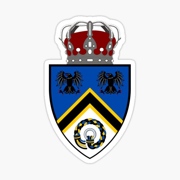 Kingdom of Hrafnarfjall Lesser Coat of Arms (Cups & Stationary) Sticker