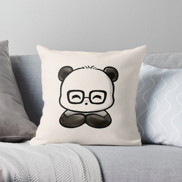 Geek Chic Panda Throw Pillow