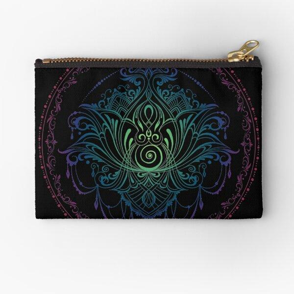 Lotus Goddess in Technicolor Dreamscape Zipper Pouch
