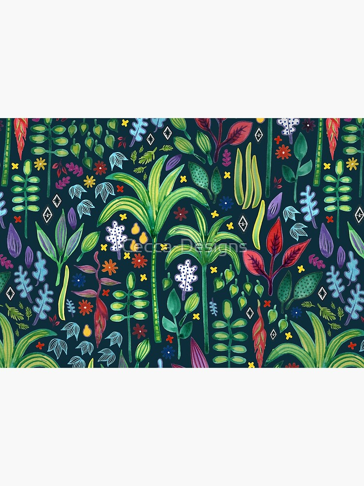 Jungle Flora - watercolour pattern by Cecca Designs by Cecca-Designs