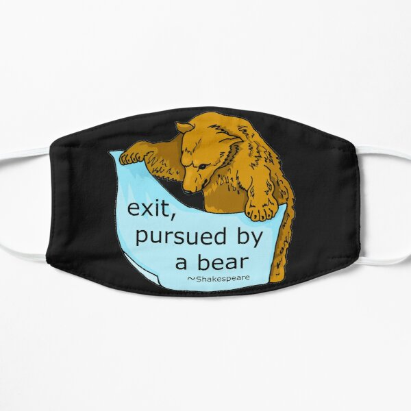 Exit Pursued by Bear Shakespeare Art Flat Mask
