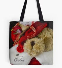 Christmas Red Teddy Bear Tote Bag