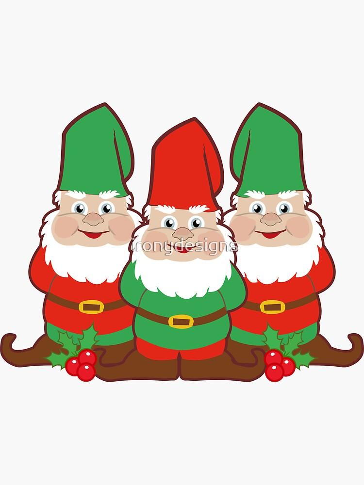 Süße Weihnachtszwerge von ironydesigns