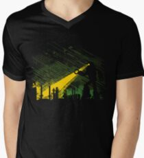 Robot Marching on the Factory Mens V-Neck T-Shirt