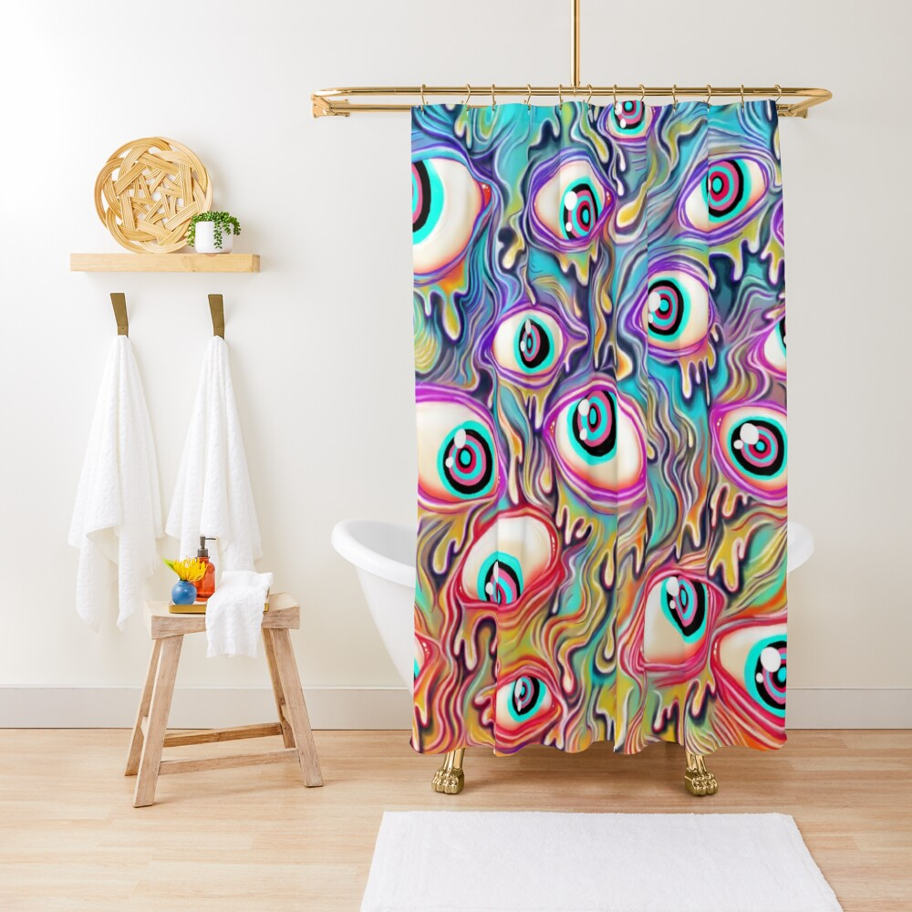 Eyeball Pattern Shower Curtain