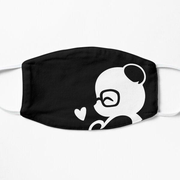 Panda Silhouette Portrait Flat Mask