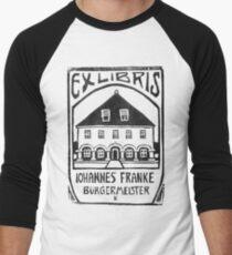 Ex Libris Johannes Franke by Ernst Ludwig Kirchner Men's Baseball ¾ T-Shirt