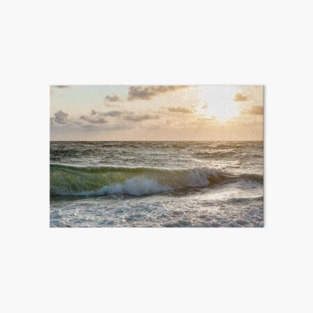 Cloth mask Sylter waves Art Board Print
