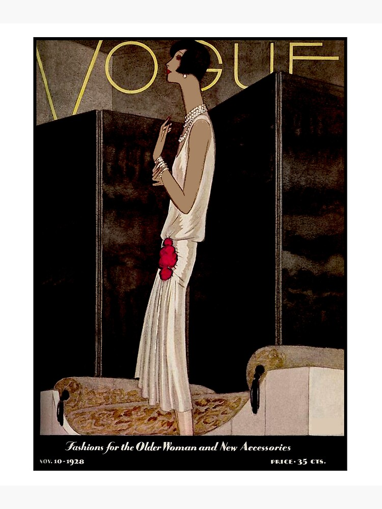 VOGUE : Vintage 1928 Magazine Cover Print by posterbobs